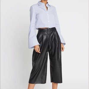 CHOOSY NOHO VEGAN LEATHER WIDE LEG PANT